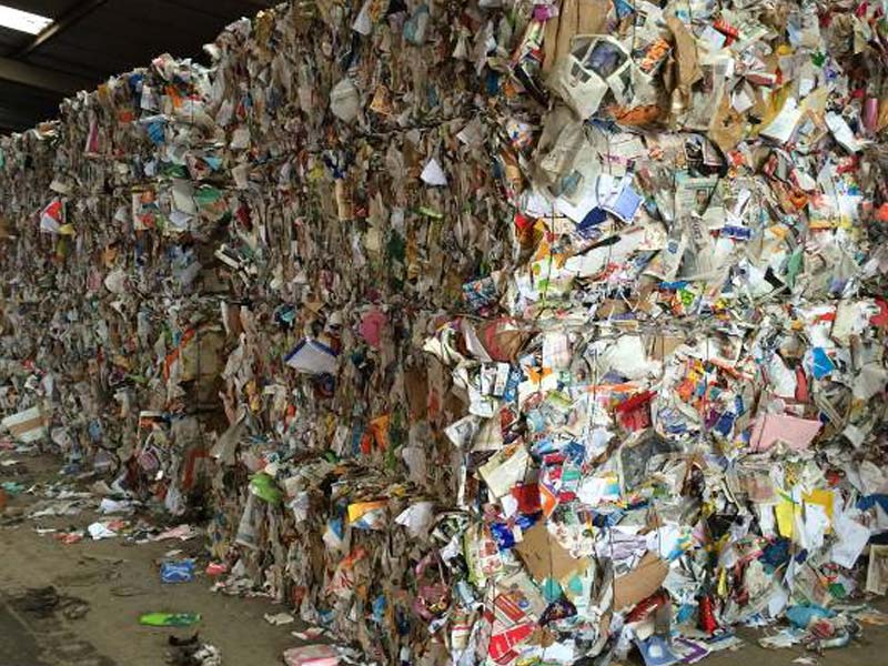 Recycled Glass Plastics and Metals
